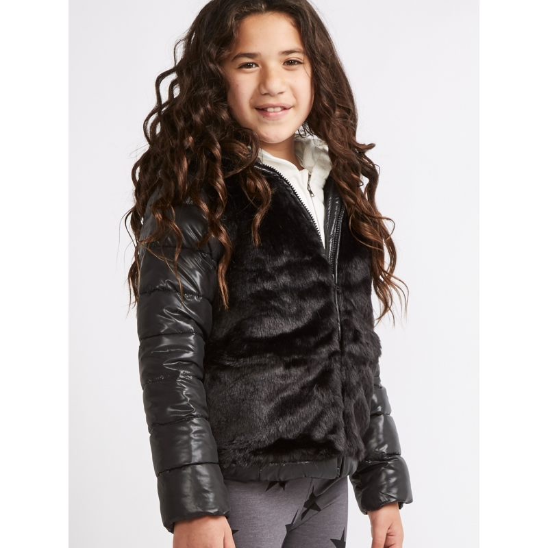 Winter Padded Jacket with Faux Fur 8-14 years