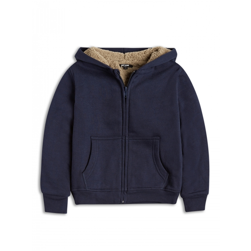 Zip Hoody Jacket with Sherpa Lining